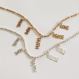Lettered bracelet