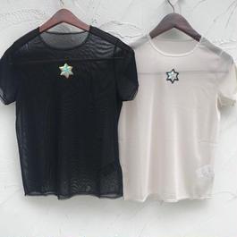 Hexagram mesh T-shirt