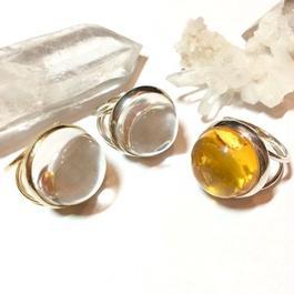 【受注商品】Dome ring S <crystal>