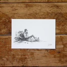 森の旅人(ポストカード)