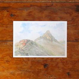 暮色の槍ヶ岳(ポストカード)