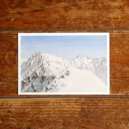 冬の穂高連峰(ポストカード)