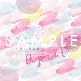 2017 APR〈 desktop calendar 〉
