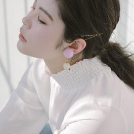 Lila / vintage beads earring