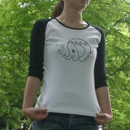 ゾウ ラグランTシャツ