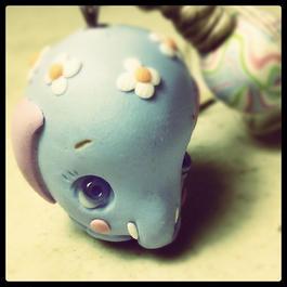 ゾウのチャーム 水色