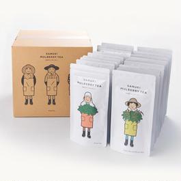 さぬきマルベリーティー【桑茶ティーバッグ10個&桑茶玄米ティーバッグ10個セット(箱・オリジナルギフト袋(20P)付き)】