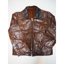 1970's leather jacket デカタロン   実寸(M)