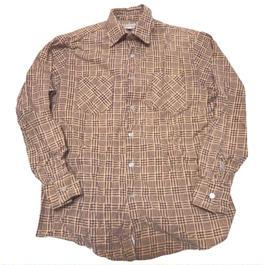 1980's ハイランダーフランネルシャツ【サンドベージ ュ】表記(M)