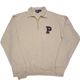 1990's Ralph Lauren ハーフジップスウェット 『P』ワッペン 【USA規格】表記(XL)