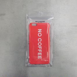 NO COFFEE iPhone6Plus用ケース(レッド)
