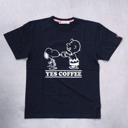 【NO COFFEE別注】 SEVESKIG × SNOOPY Tシャツ  Ver.2 BLACK