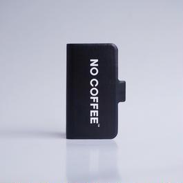 NO COFFEE 手帳型iPhone7用(ブラック)