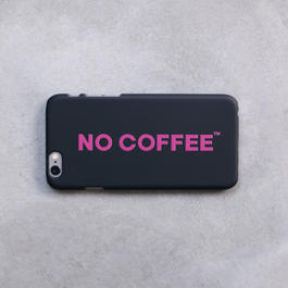 NO COFFEE iPhone6Plus用ケース ブラック×ピンク