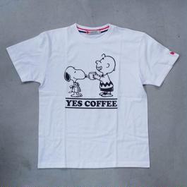 【NO COFFEE別注】 SEVESKIG × SNOOPY Tシャツ  Ver.2 WHITE