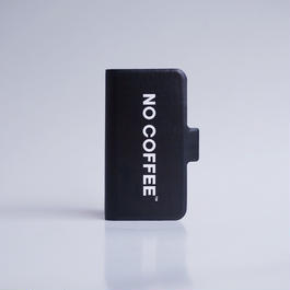 NO COFFEE 手帳型iPhone7Plus用(ブラック)