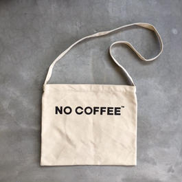NO COFFEE SHOULDER BAG (WHITE)