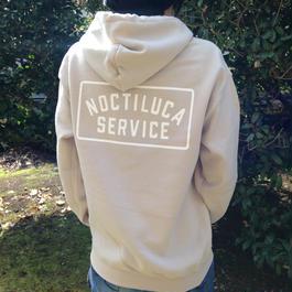 NOCTILUCA SERVICE  label hoodie