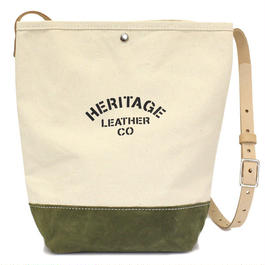 """NEW""  HERITAGE LEATHER CO.  BUCKET SHOULDER BAG"