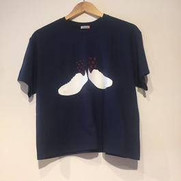 """NEW"" Lilou&Lily GILDAN CLASSIC FIT TEE NAVY (white/red)"