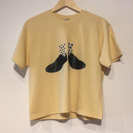 """NEW"" Lilou&Lily GILDAN CLASSIC FIT TEE BEIGE (black/royal blue)"