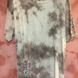 オーガニックコットン メンズTシャツ Lサイズ べんがら染めニックコットン ロンパース べんがら染め