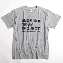 ONOMICHI DENIM T-SHIRT GRAY