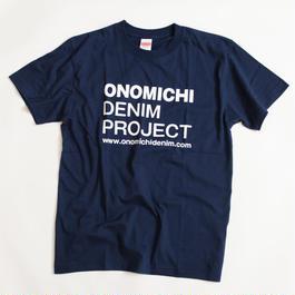 ONOMICHI DENIM T-SHIRT NAVY