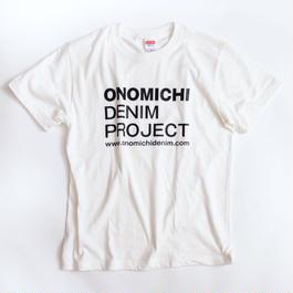 ONOMICHI DENIM T-SHIRT  WHITE