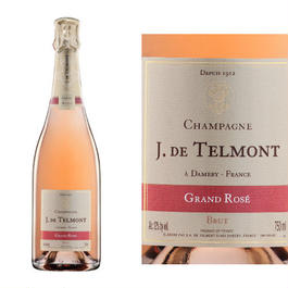 辛口シャンパン、ロゼ「グラン・ロゼ・ブリュット」NV、フランス, ジャック・ド・テルモン 750ml