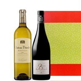 フランスワインセット 南フランス赤ワインとボルドーの白ワイン 750ml×2本