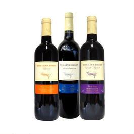 フランス赤ワイン ブドウの種類で飲み比べる3本セット
