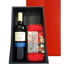 夏ギフト 南フランス ラ 赤ワイン カベルネ・ソーヴィニヨン 2014年 750ml 烏骨鶏卵のカステラ プレーン味