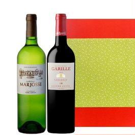 フランス 赤白2本セット ボルドーの白ワイン ラングドック・ルーションの赤ワイン 750ml×2本