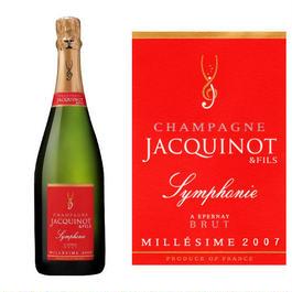 シャンパン「シンフォニー・ミレジメ2007年」メゾン・ジャキノ・エ・フィス、フランス、750ml、辛口