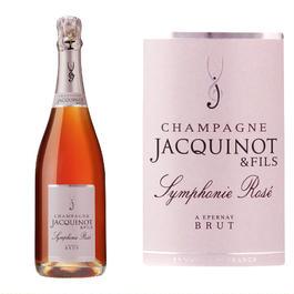 シャンパンとお花のギフトセット フランスのロゼシャンパーニュ「シンフォニー・ロゼ」とピンクのバラのプリザーブドフラワー