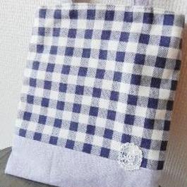 【soyumi*】ぺたんこバッグ 紫チェック P37-0191