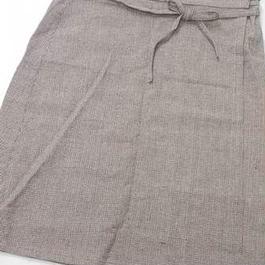 【ああ】巻きスカート こげ茶グレンチェック P17-980