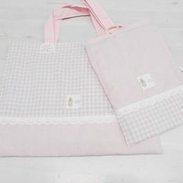 【ああ】絵本バッグ+シューズ入れ P17-1020
