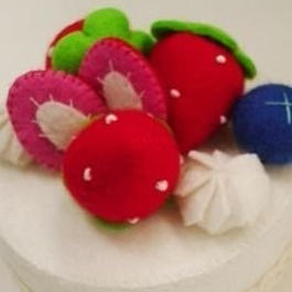 【KANADE】フェルトケーキ ショートケーキ P29-0120