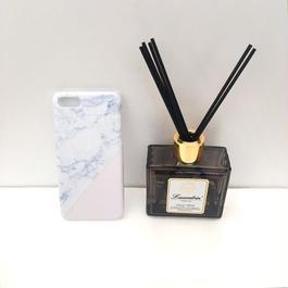 pajour(パジュール) ペールピンク ストライプ マーブル 柄 スマホ ハードケース (iPhone)(xperia)