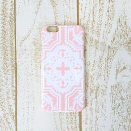 pajour(パジュール) ペールピンク タイル 柄 スマホ ハードケース