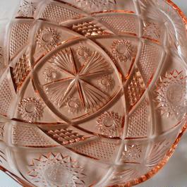 昭和レトロ・プレスガラスの大皿
