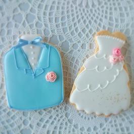 wedding タキシード  or  ドレス(ピンクローズ)プチギフト 座席札