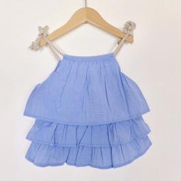 フリルキャミソール 【BLUE  90〜120CM】