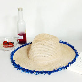 summer blue hat