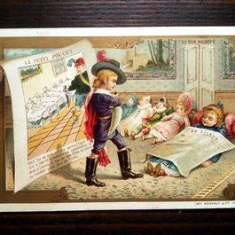 ◆フランス Au bon marché 童話シリーズ アンティーククロモス◆親指小僧
