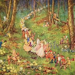 ◆M.W.Tarrant 妖精たちの大行進◆アンティークポストカード
