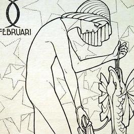 Joseph Speybrouck 1928☆2月うお座☆アンティークポストカード