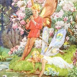 ◆M.W.Tarrant 水辺の妖精たち◆アンティークポストカード
